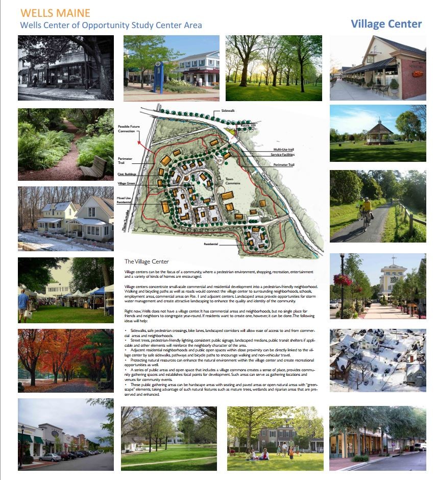 Wells Village Center Vision for Sustain Southern Maine Study Area