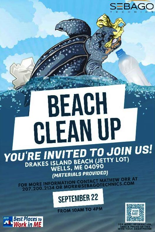 Drakes Island Beach Clean Up Flyer 2019-09-22