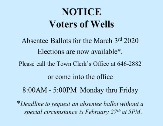 Absentee Ballots for 03-03-2020 Elections revised for News