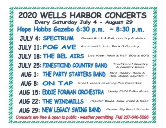 Summer Concert Schedule 2020 for news